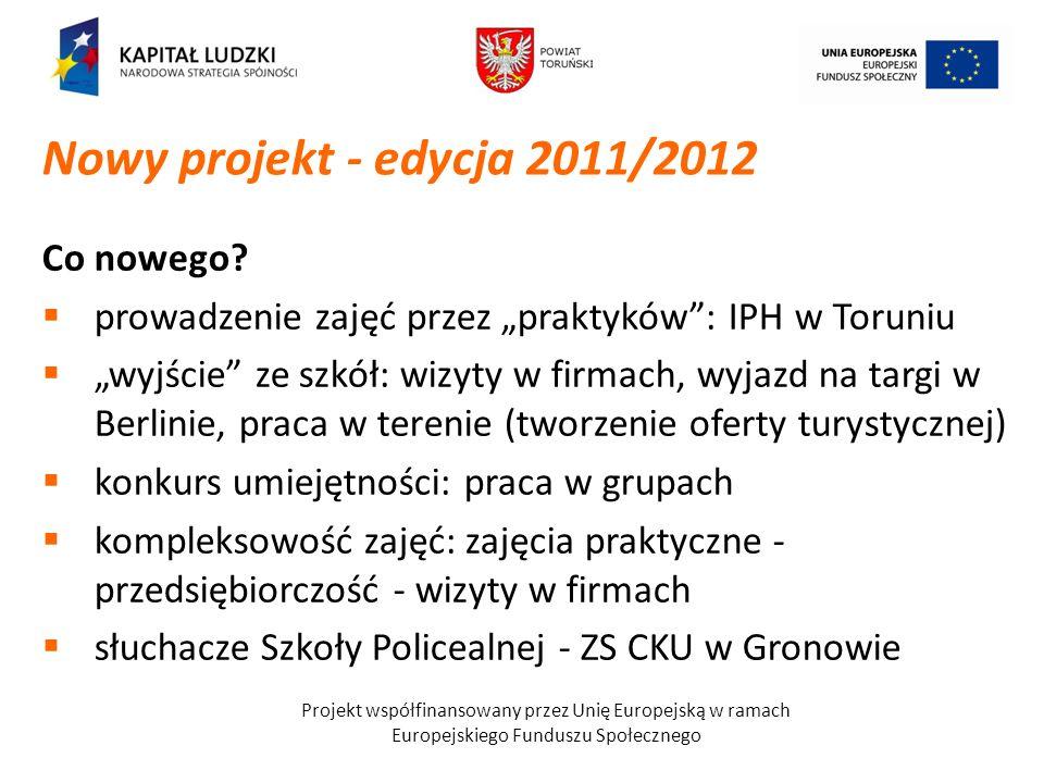 Nowy projekt - edycja 2011/2012 Co nowego