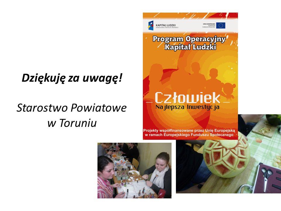 Dziękuję za uwagę! Starostwo Powiatowe w Toruniu