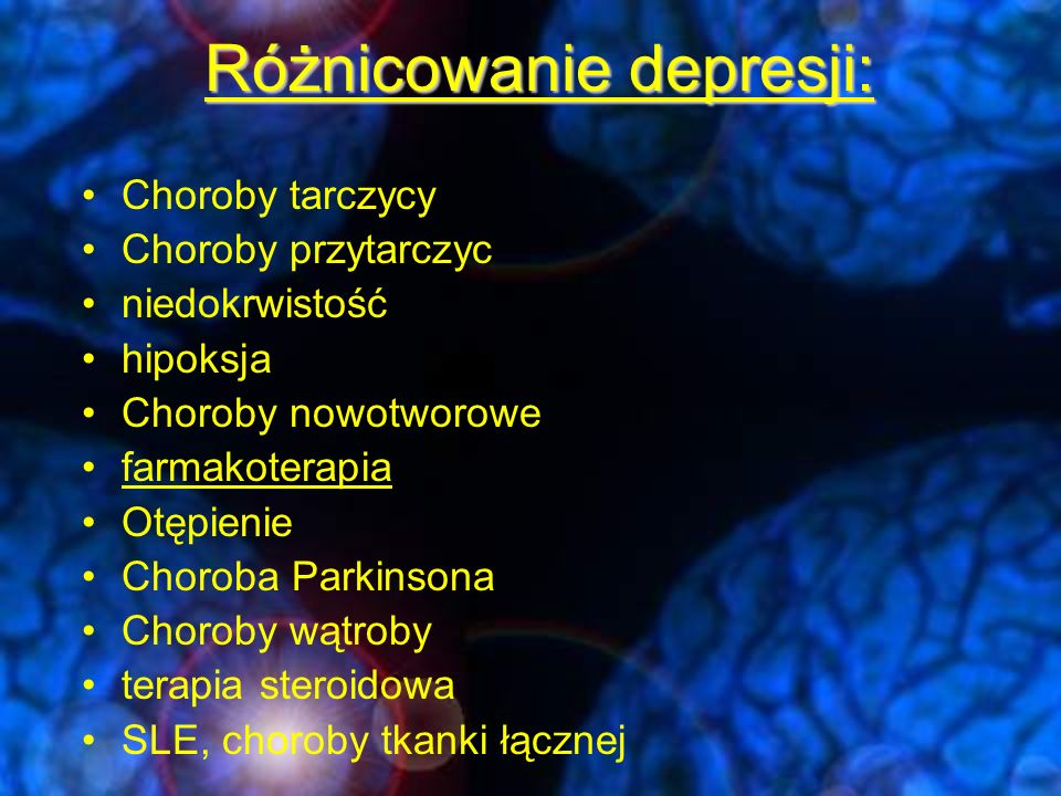 Różnicowanie depresji: