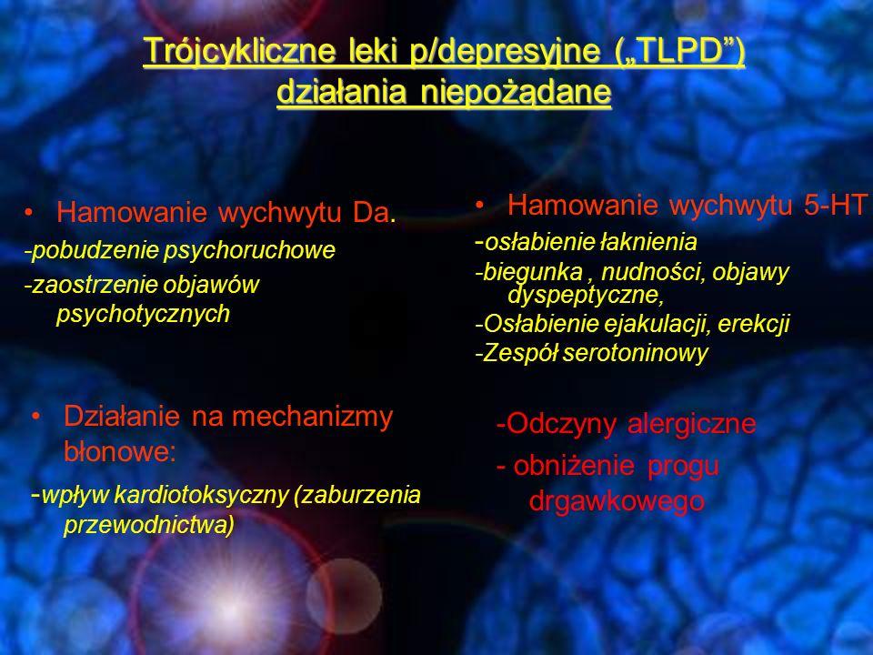 """Trójcykliczne leki p/depresyjne (""""TLPD ) działania niepożądane"""