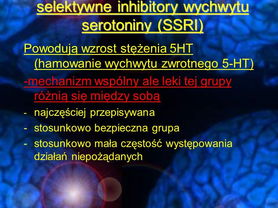 selektywne inhibitory wychwytu serotoniny (SSRI)