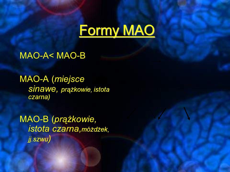 Formy MAO MAO-A< MAO-B
