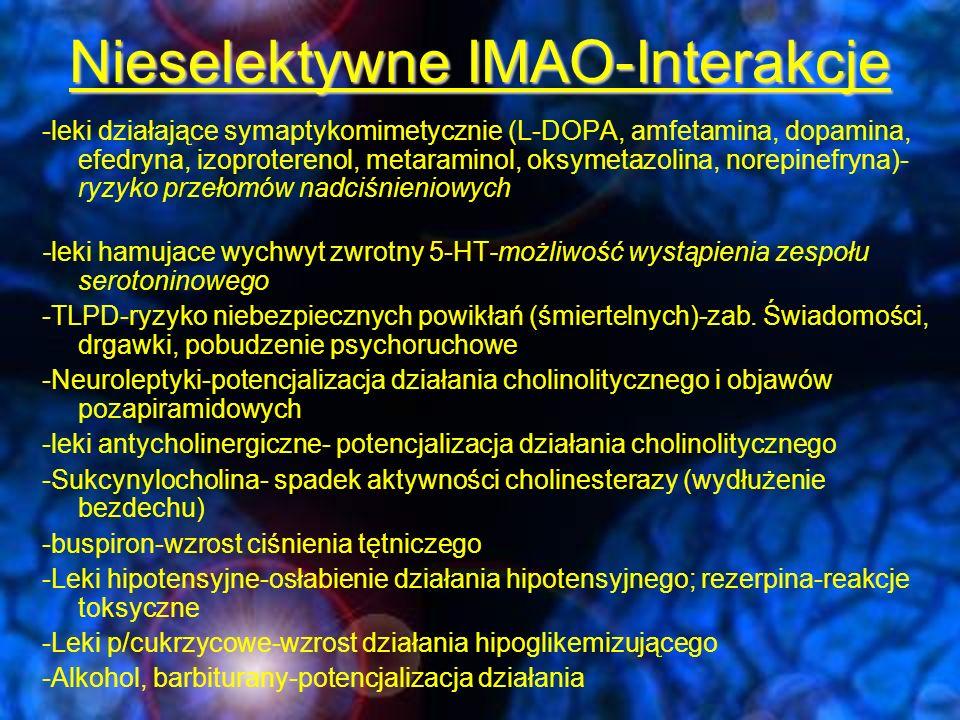 Nieselektywne IMAO-Interakcje