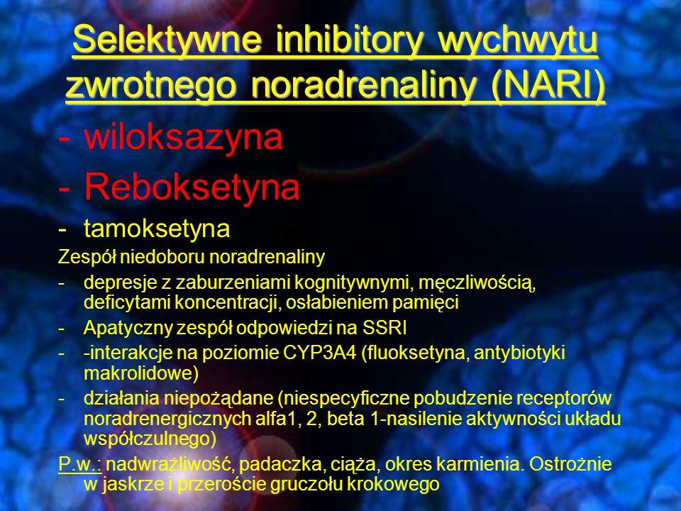 Selektywne inhibitory wychwytu zwrotnego noradrenaliny (NARI)