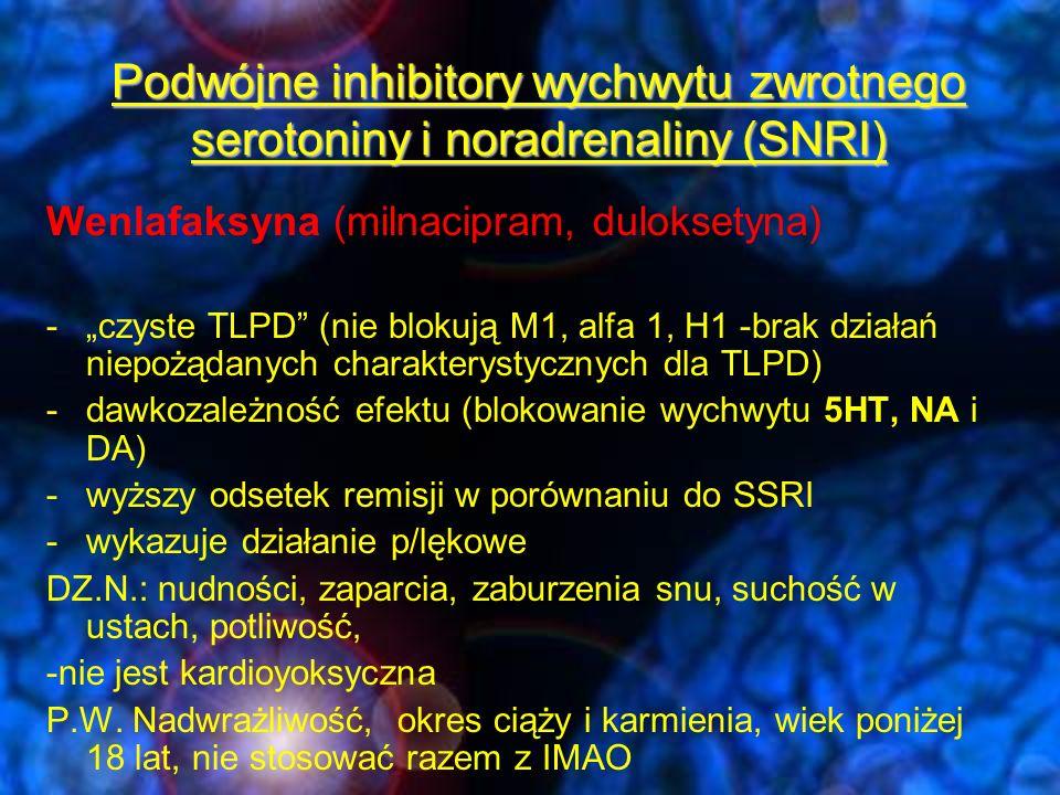 Podwójne inhibitory wychwytu zwrotnego serotoniny i noradrenaliny (SNRI)