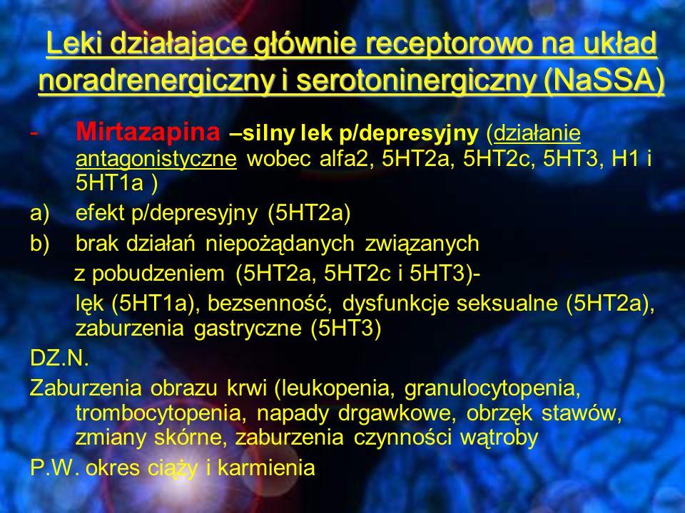 Leki działające głównie receptorowo na układ noradrenergiczny i serotoninergiczny (NaSSA)