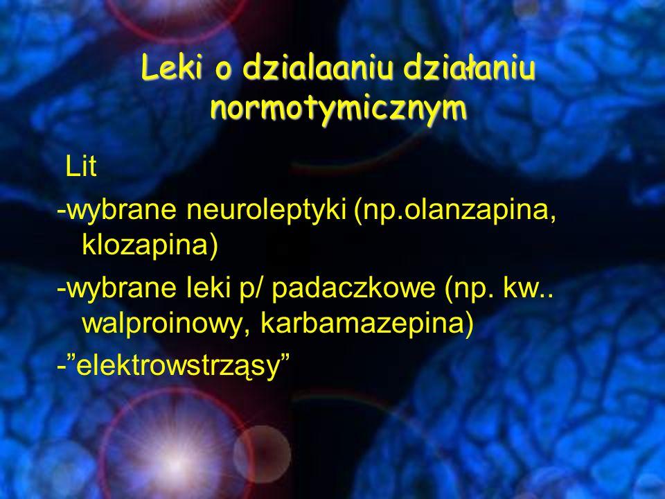 Leki o dzialaaniu działaniu normotymicznym
