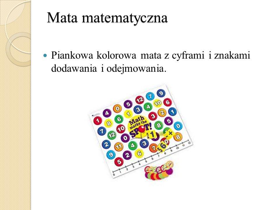 Mata matematyczna Piankowa kolorowa mata z cyframi i znakami dodawania i odejmowania.