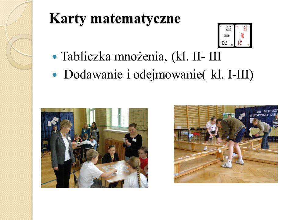 Karty matematyczne Tabliczka mnożenia, (kl. II- III