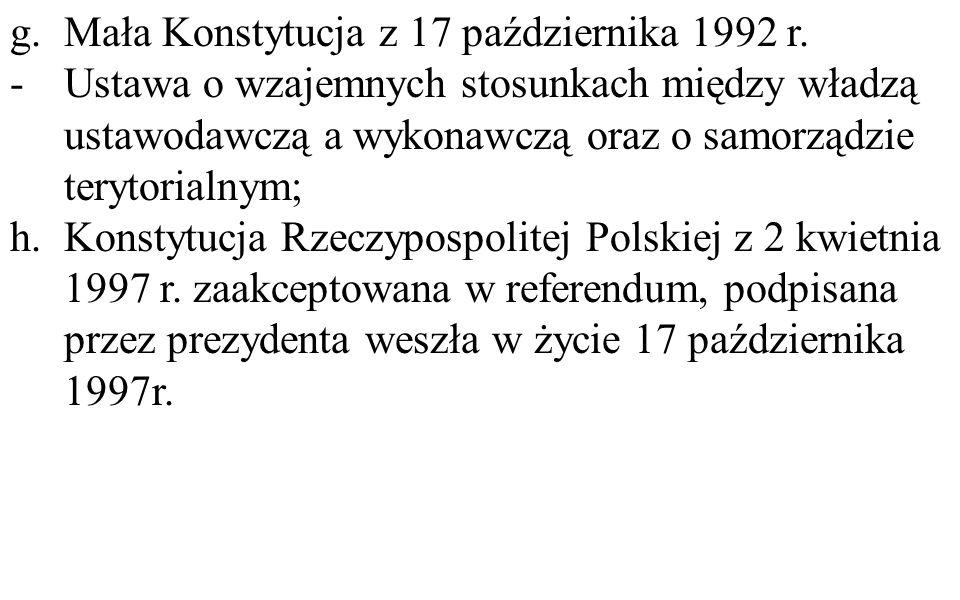 Mała Konstytucja z 17 października 1992 r.