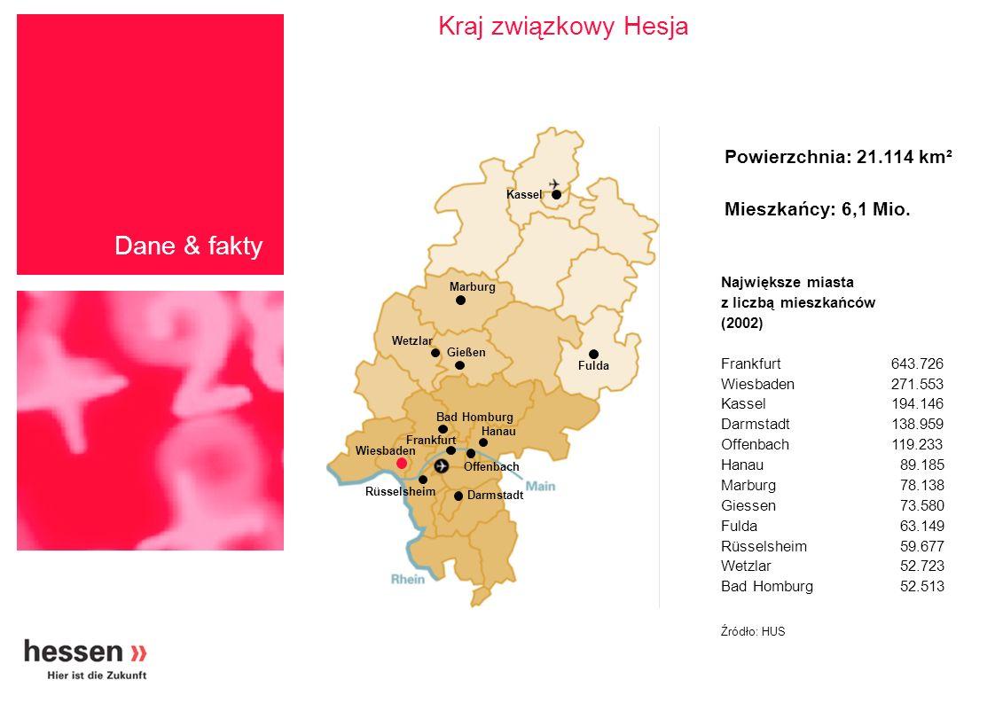Kraj związkowy Hesja Dane & fakty Powierzchnia: 21.114 km²