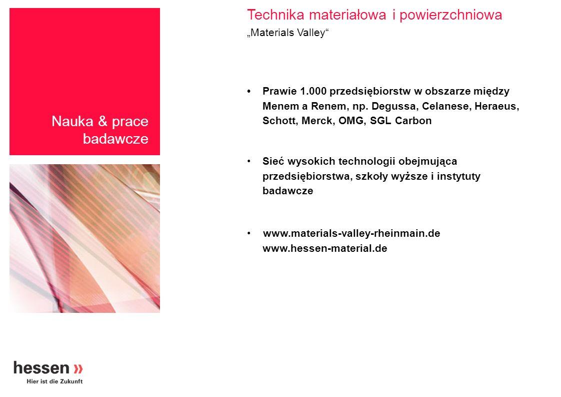 "Technika materiałowa i powierzchniowa ""Materials Valley"