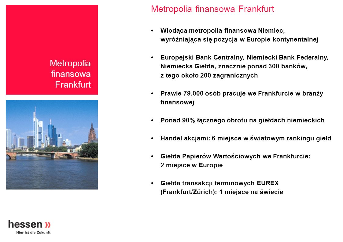 Metropolia finansowa Frankfurt