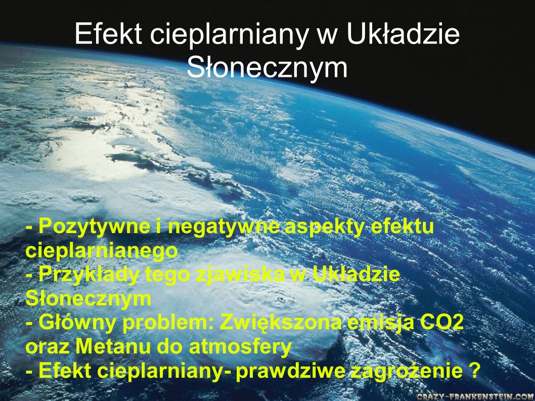 Efekt cieplarniany w Układzie Słonecznym