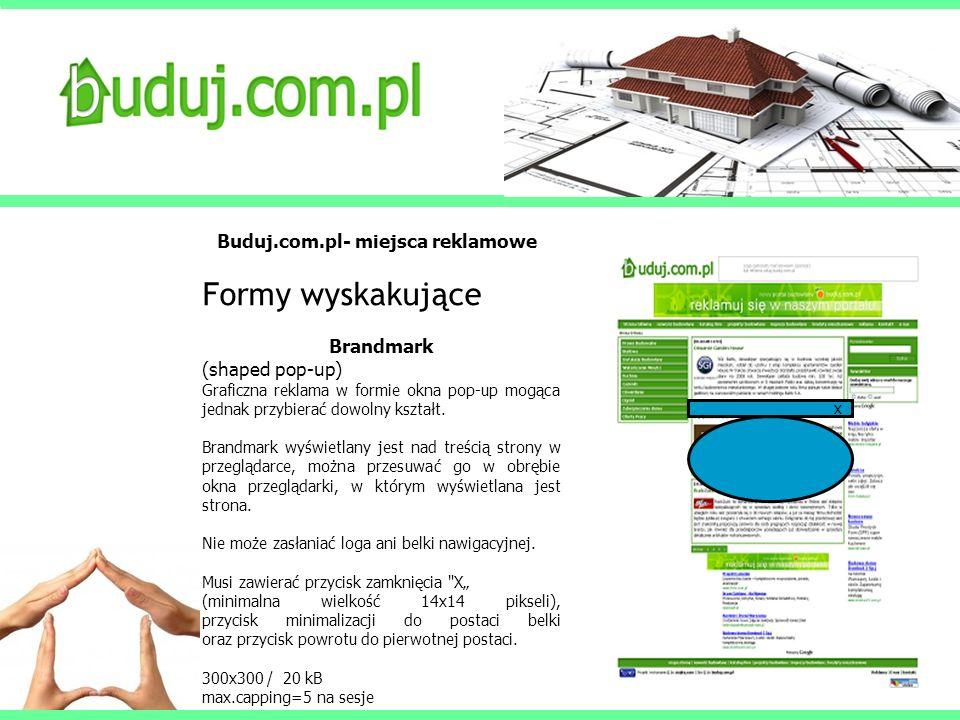 Formy wyskakujące Buduj.com.pl- miejsca reklamowe