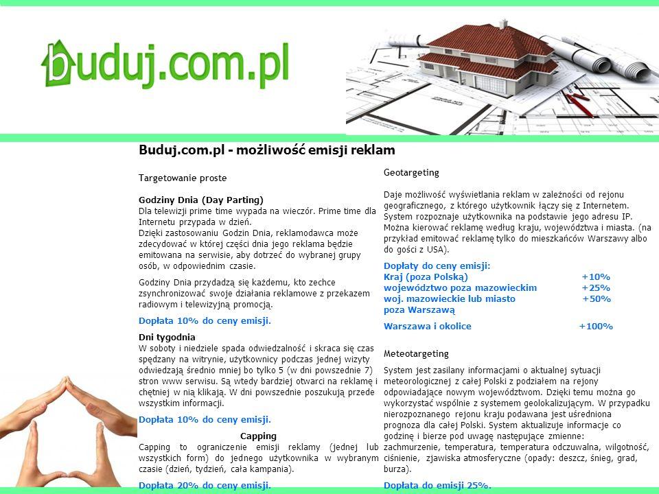 Buduj.com.pl - możliwość emisji reklam