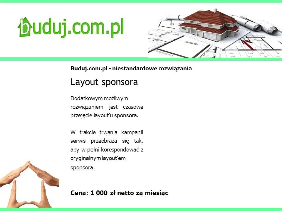 Layout sponsora Cena: 1 000 zł netto za miesiąc