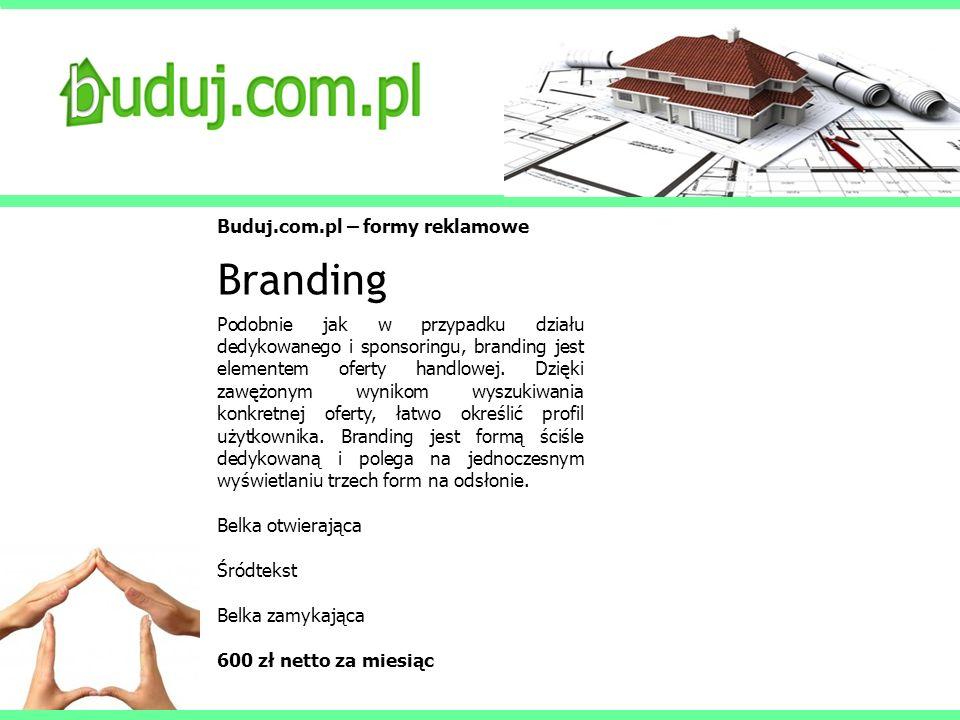 Branding Buduj.com.pl – formy reklamowe