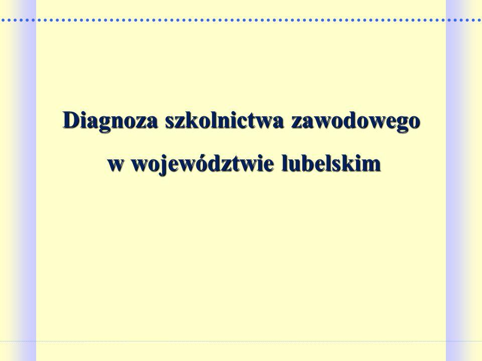 Diagnoza szkolnictwa zawodowego w województwie lubelskim
