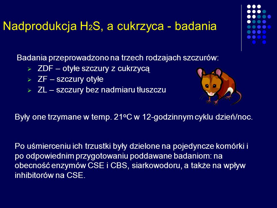 Nadprodukcja H2S, a cukrzyca - badania