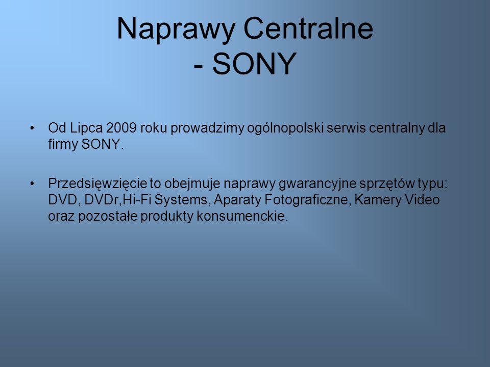Naprawy Centralne - SONY