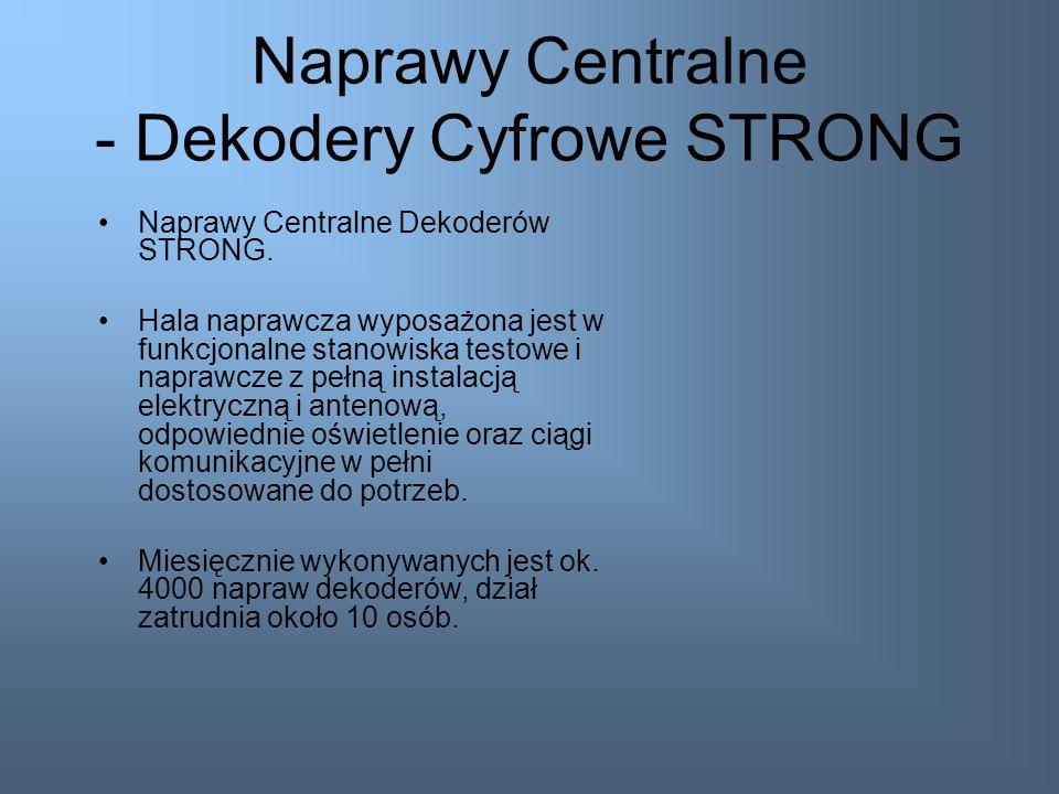 Naprawy Centralne - Dekodery Cyfrowe STRONG