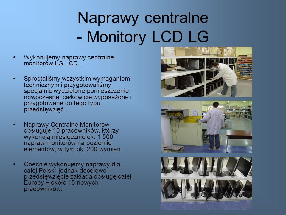 Naprawy centralne - Monitory LCD LG
