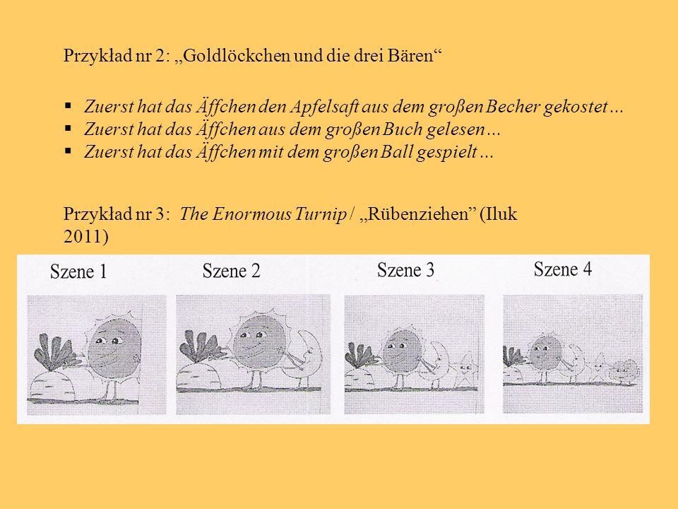 """Przykład nr 2: """"Goldlöckchen und die drei Bären"""