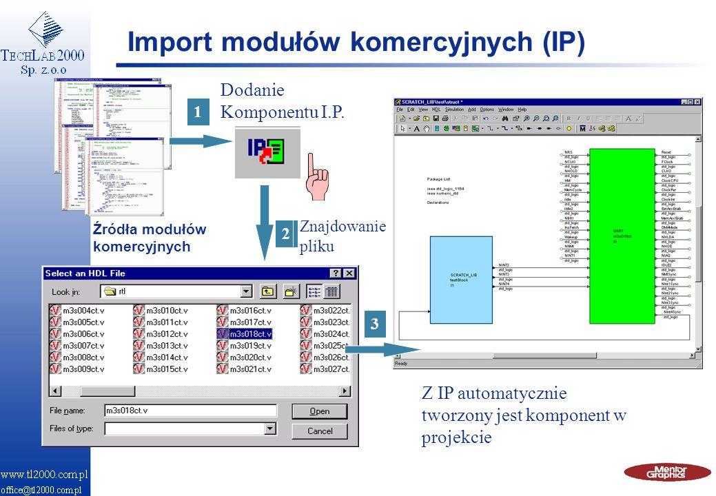 Import modułów komercyjnych (IP)