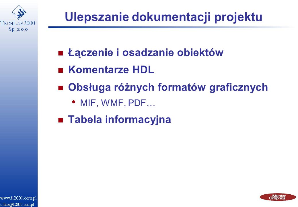 Ulepszanie dokumentacji projektu