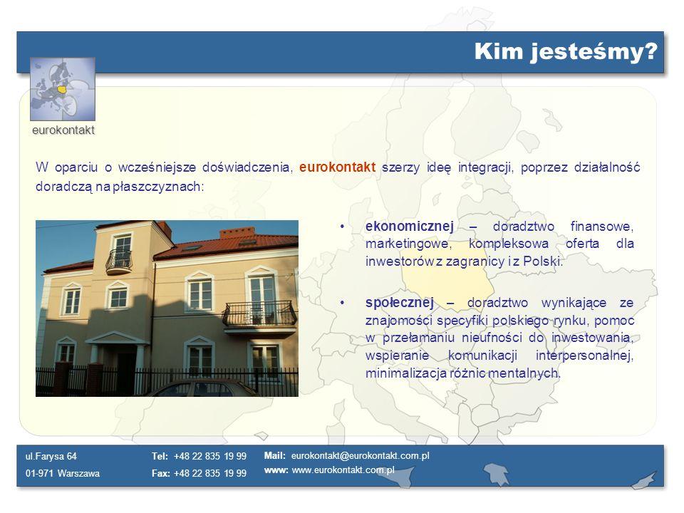 Kim jesteśmy W oparciu o wcześniejsze doświadczenia, eurokontakt szerzy ideę integracji, poprzez działalność doradczą na płaszczyznach: