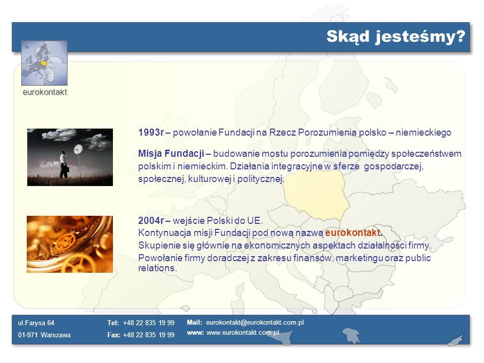 Skąd jesteśmy 1993r – powołanie Fundacji na Rzecz Porozumienia polsko – niemieckiego.