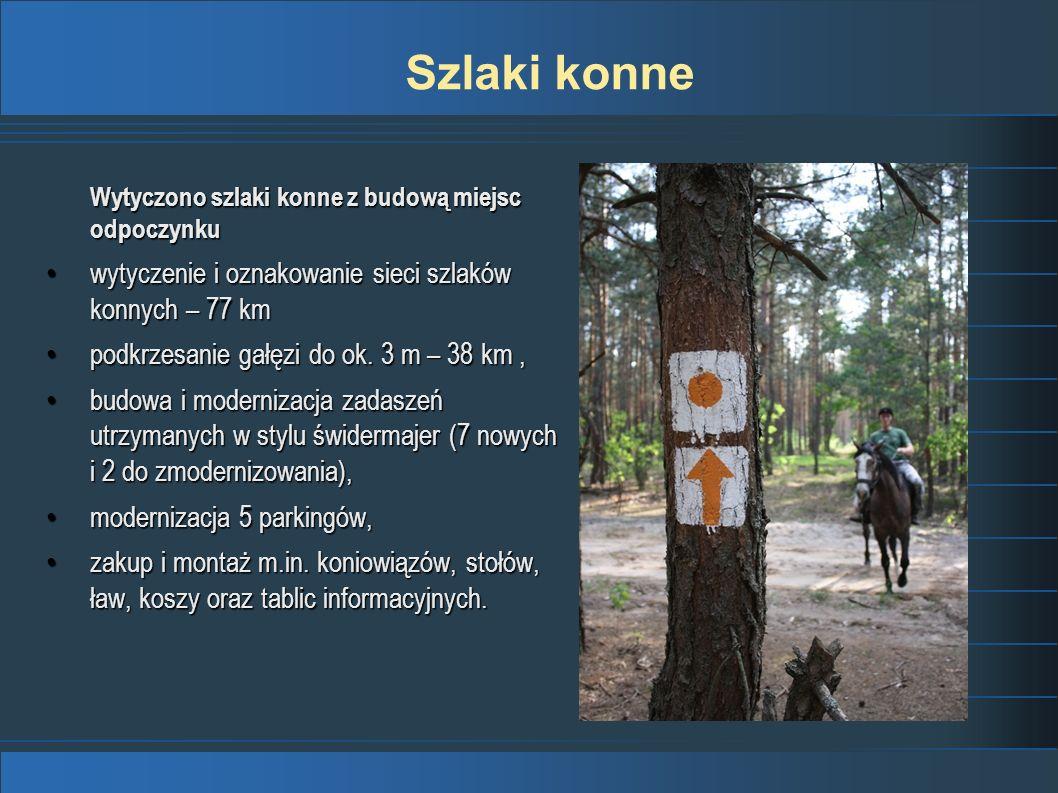 Szlaki konne wytyczenie i oznakowanie sieci szlaków konnych – 77 km