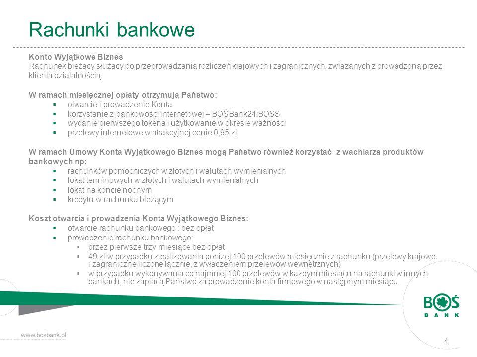 Rachunki bankowe Konto Wyjątkowe Biznes