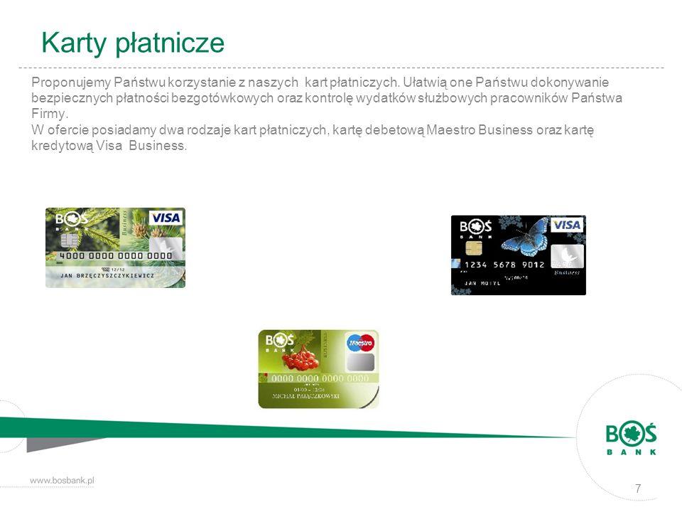 Karty płatnicze Proponujemy Państwu korzystanie z naszych kart płatniczych. Ułatwią one Państwu dokonywanie.