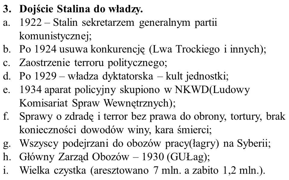 Dojście Stalina do władzy.