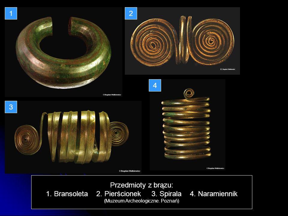 1. Bransoleta 2. Pierścionek 3. Spirala 4. Naramiennik
