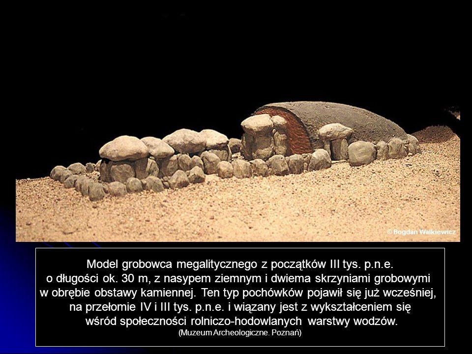 Model grobowca megalitycznego z początków III tys. p.n.e.