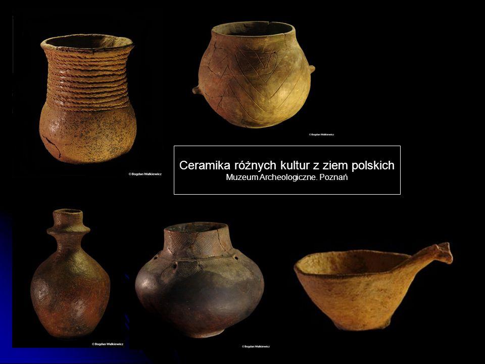 Ceramika różnych kultur z ziem polskich