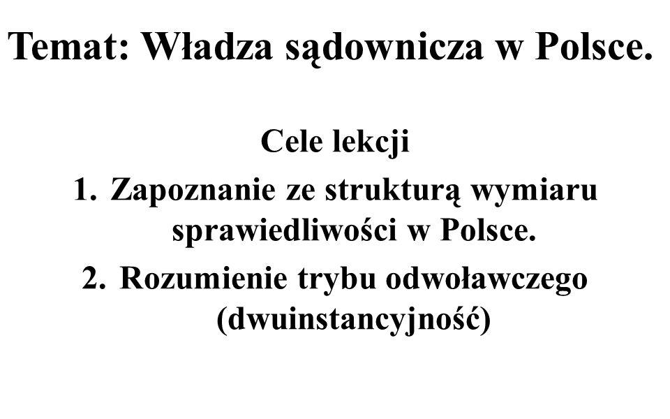 Temat: Władza sądownicza w Polsce.