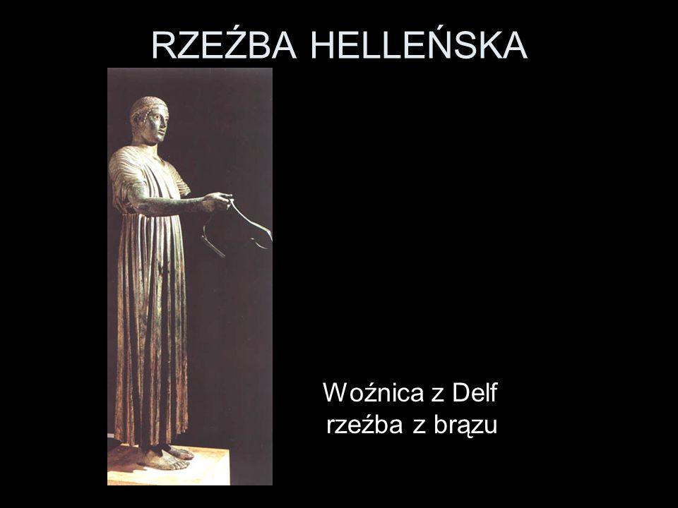 RZEŹBA HELLEŃSKA Woźnica z Delf rzeźba z brązu