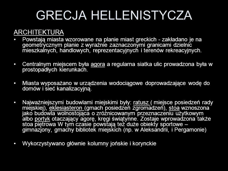 GRECJA HELLENISTYCZA ARCHITEKTURA