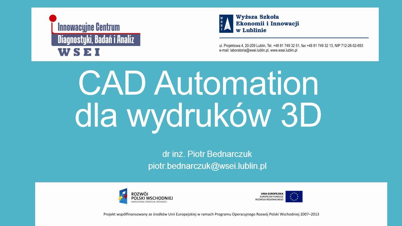 CAD Automation dla wydruków 3D