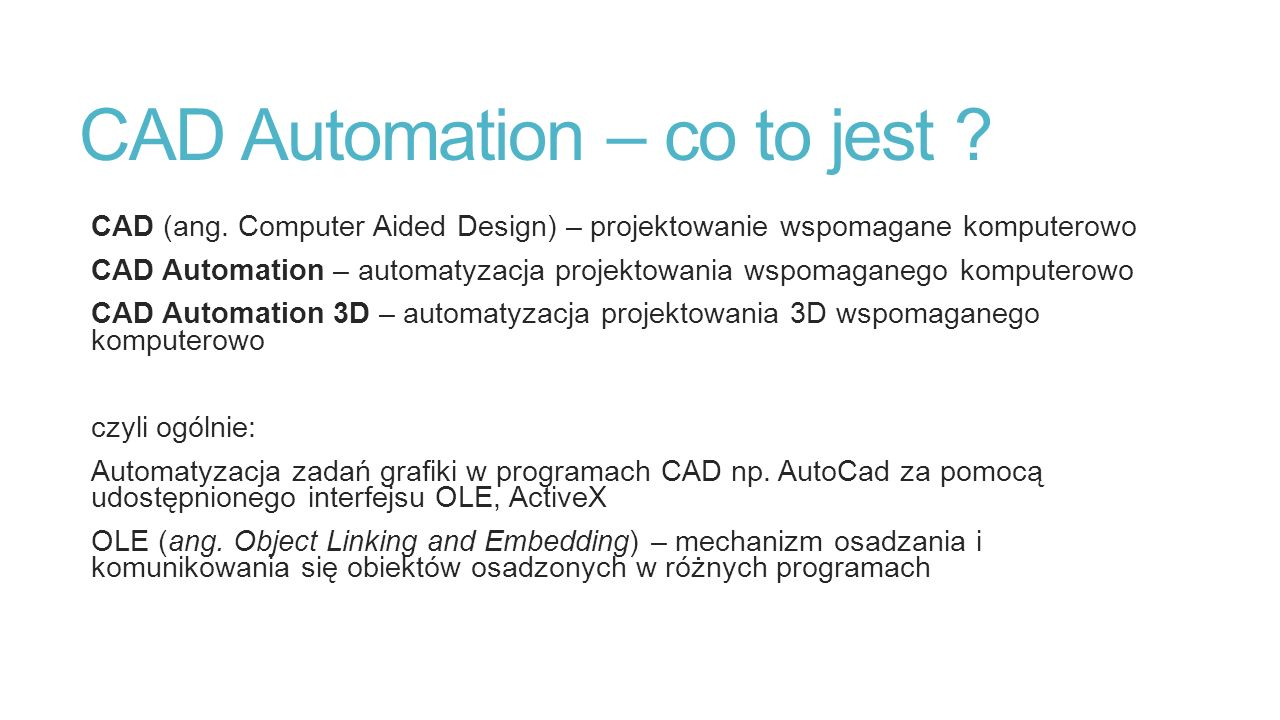 CAD Automation – co to jest