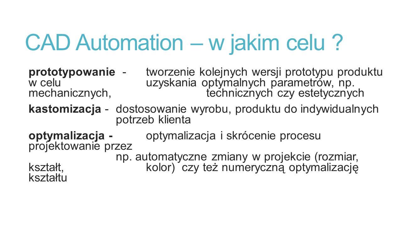 CAD Automation – w jakim celu