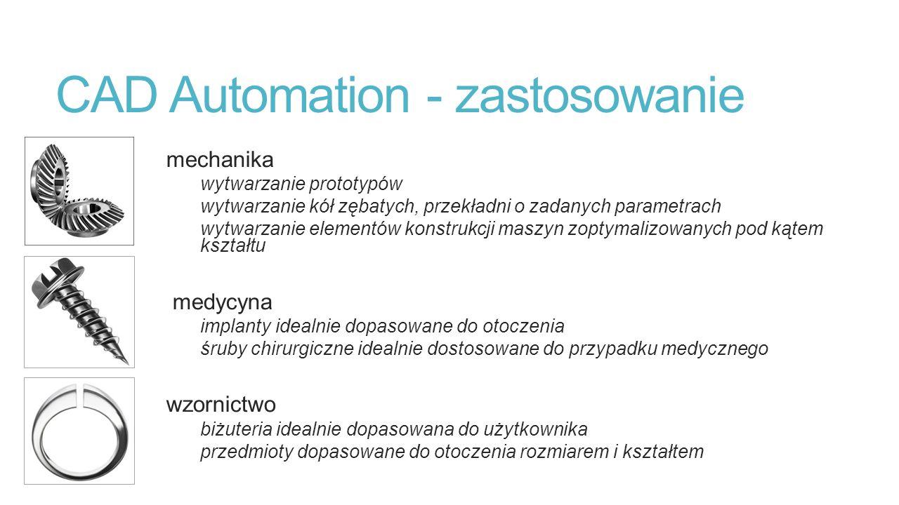 CAD Automation - zastosowanie