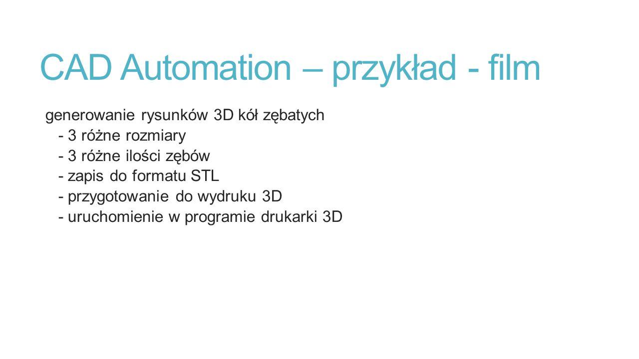 CAD Automation – przykład - film