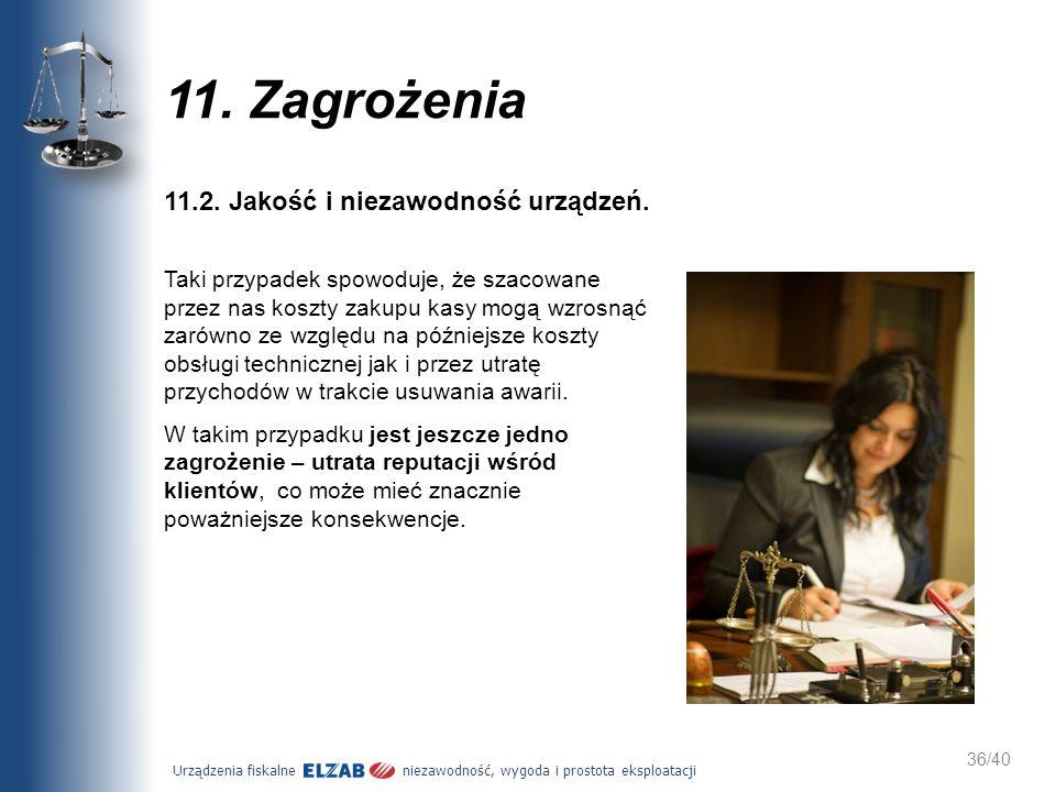 11. Zagrożenia 11.2. Jakość i niezawodność urządzeń.