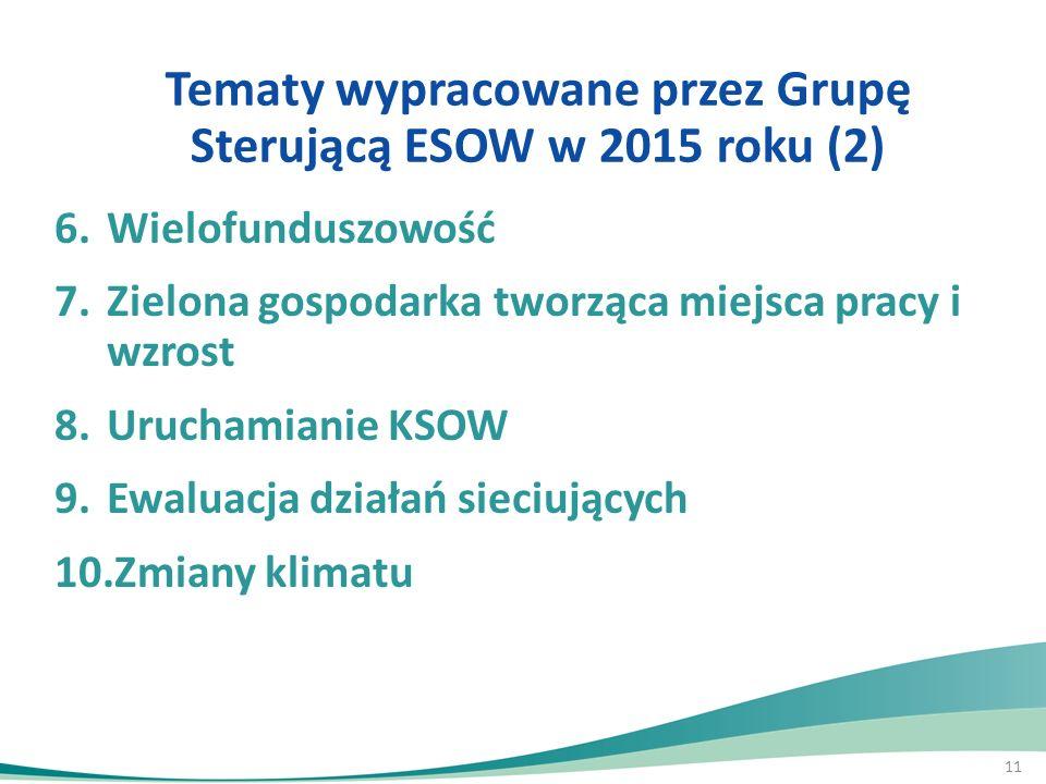 Tematy wypracowane przez Grupę Sterującą ESOW w 2015 roku (2)