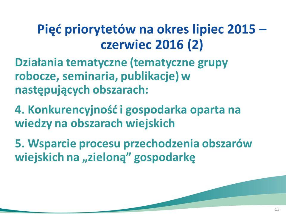 Pięć priorytetów na okres lipiec 2015 – czerwiec 2016 (2)
